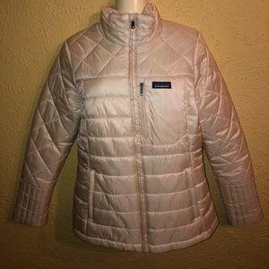 Women's white Patagonia puffer jacket size M